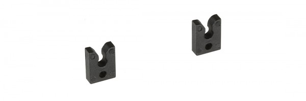 Tube clip for 0.5 and 1 mm ID continuous tube, set of 2